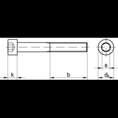 Schraube M6x18 Stift DIN 835 verzinkt